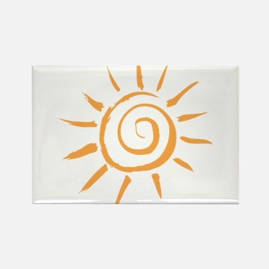 Spiral Sun Rectangle Magnet