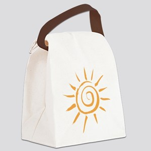 Spiral Sun Canvas Lunch Bag