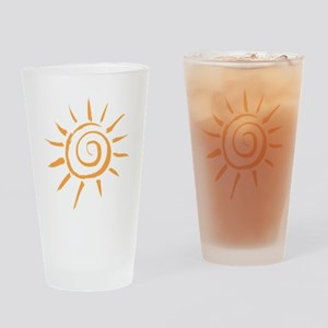 Spiral Sun Drinking Glass