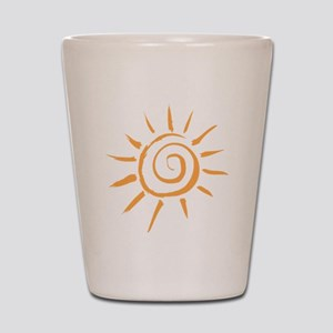 Spiral Sun Shot Glass