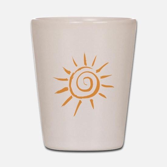 Spiral Sun Shot Glass