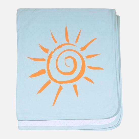 Spiral Sun baby blanket