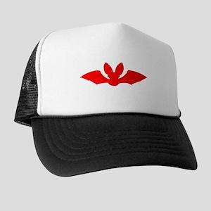 Red Bat Silhouette Hat
