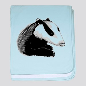 Badger baby blanket