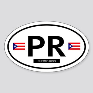 Puerto Rico Oval Sticker