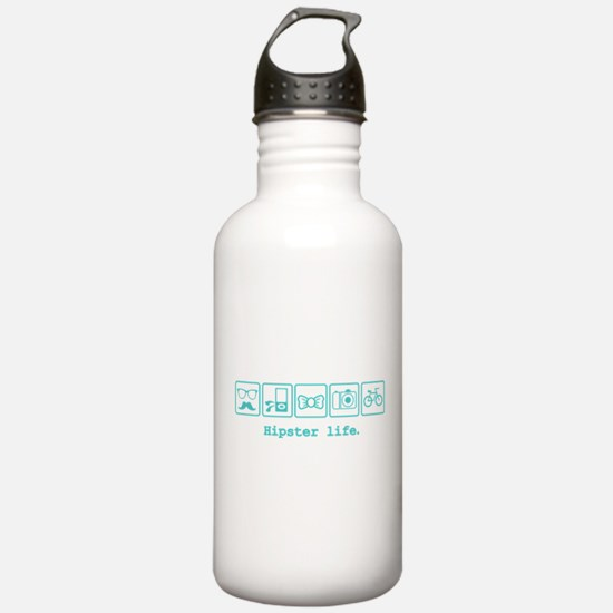 Hipster life Water Bottle