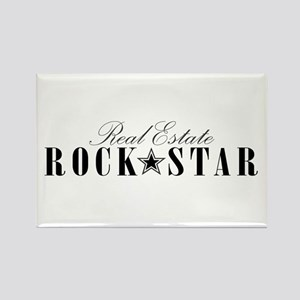 RE Rock Star Rectangle Magnet