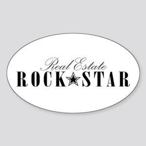 RE Rock Star Oval Sticker