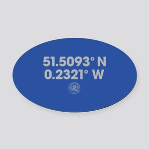Queens Park Rangers Coordinates Oval Car Magnet