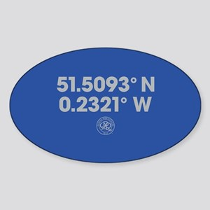 Queens Park Rangers Coordinates Sticker (Oval)