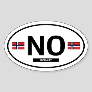 Norway Oval Sticker