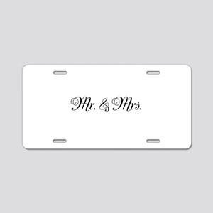 Mr. Mrs. Aluminum License Plate