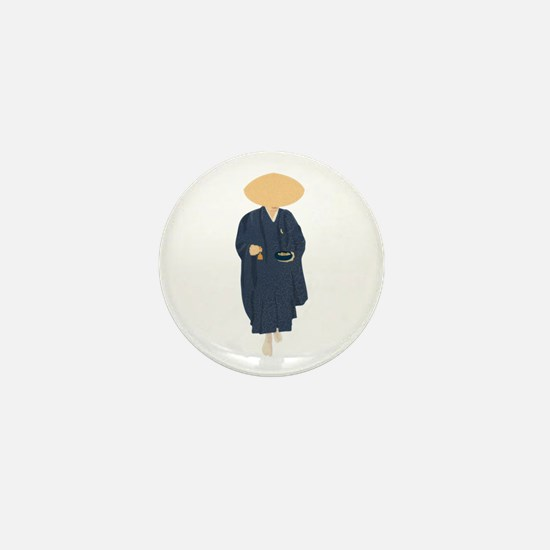 Buddhist Monk Mini Button