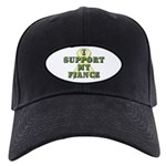 I Support My Fiance Black Cap