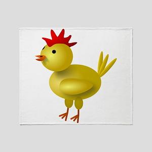 3D Chicken Throw Blanket