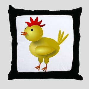 3D Chicken Throw Pillow