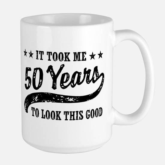 Funny 50th Birthday Large Mug