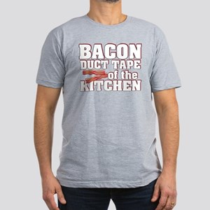 Bacon - Duct Tape Men's Fitted T-Shirt (dark)
