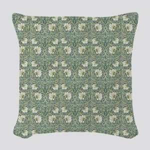 Morris Pimpernel with Repeats Woven Throw Pillow