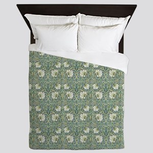 Morris Pimpernel with Repeats Queen Duvet
