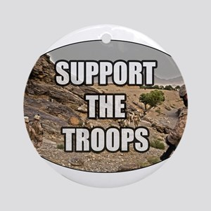 Support The Troops - Army Ornament (Round)