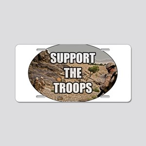 Support The Troops - Army Aluminum License Plate