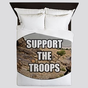 Support The Troops - Army Queen Duvet
