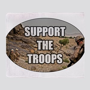 Support The Troops - Army Throw Blanket