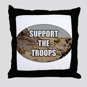 Support The Troops - Army Throw Pillow