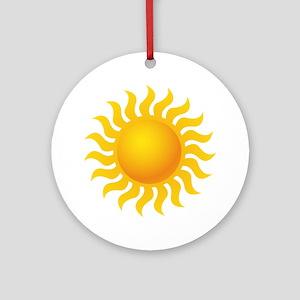 Sun - Sunny - Summer Ornament (Round)