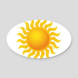 Sun - Sunny - Summer Oval Car Magnet