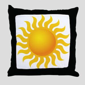 Sun - Sunny - Summer Throw Pillow