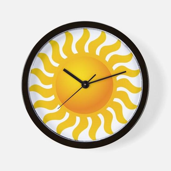 Sun - Sunny - Summer Wall Clock