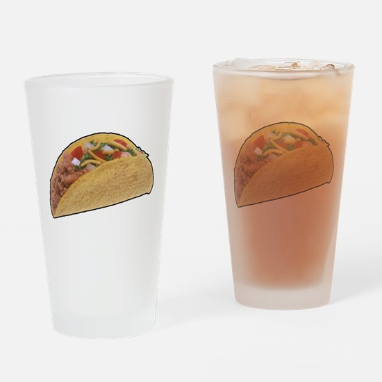 Taco - Food - Mexican Drinking Glass