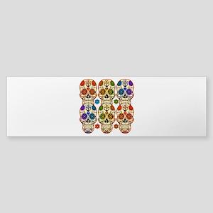 Happy Skulls Sticker (Bumper)