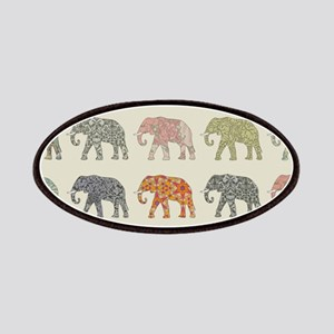 Elephant Colorful Repeating Pattern Decorato Patch