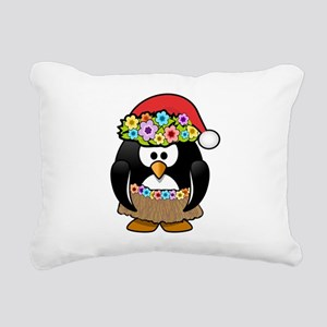 Hawaiian Christmas Penguin Rectangular Canvas Pill