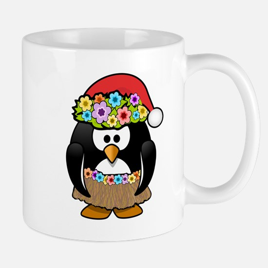 Hawaiian Christmas Penguin Small Mug