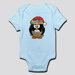 Hawaiian Christmas Penguin Body Suit