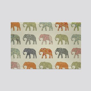 Elephant Colorful Repeating Pattern Decora Magnets