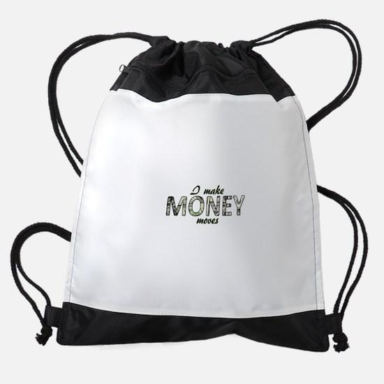 Money Moves Drawstring Bag