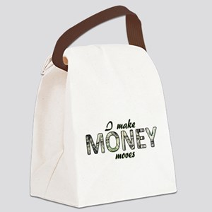 Money Moves Canvas Lunch Bag