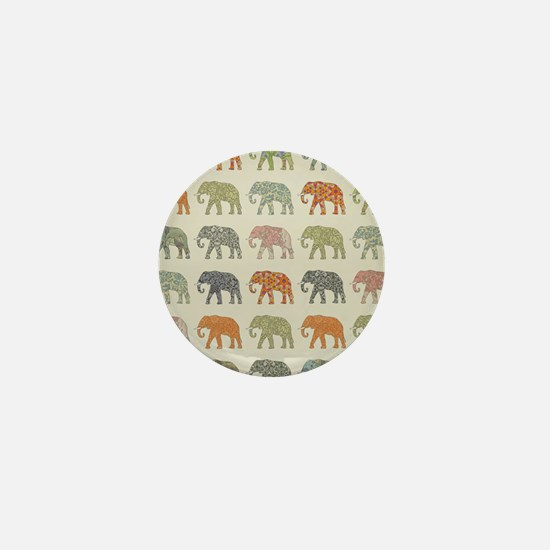 Elephant Colorful Repeating Mini Button (100 pack)