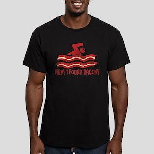 I found Bacon! Men's Fitted T-Shirt (dark)