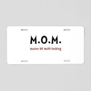 Mom Multitasking Aluminum License Plate