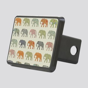Elephant Colorful Repeatin Rectangular Hitch Cover