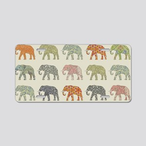 Elephant Colorful Repeating Aluminum License Plate