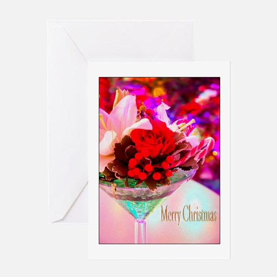 Merry Christmas With Rose & Daylily Card