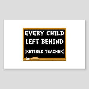 Retired Teacher Sticker