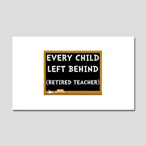 Retired Teacher Car Magnet 20 x 12